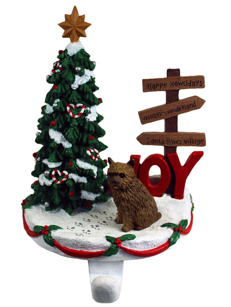 Norwich Terrier Stocking Holder Hanger