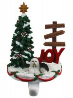Old English Sheepdog Stocking Holder Hanger