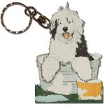 old_english_sheepdog_wooden_keychain