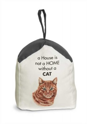 Orange Cat Door Stopper 5 X 6 In. 2 lbs. - A House is Not a Home