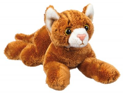 Orange Tabby Cat Stuffed Animal Bean Bag Dog