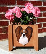 Papillon Planter Flower Pot Brown White