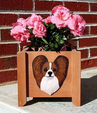 Papillon Planter Flower Pot Brown White 1