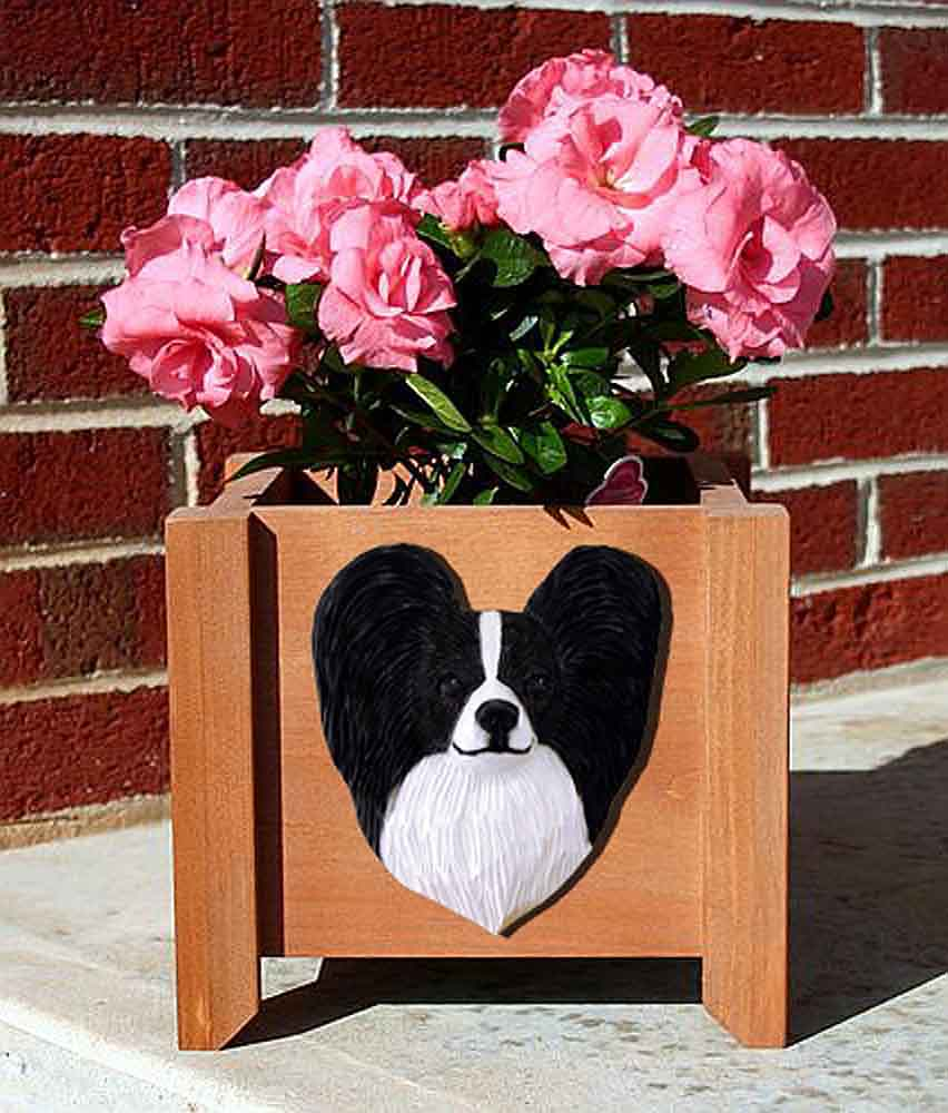 Papillon Planter Flower Pot Black White