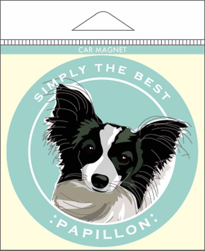 Papillion Car Magnet 4x4""