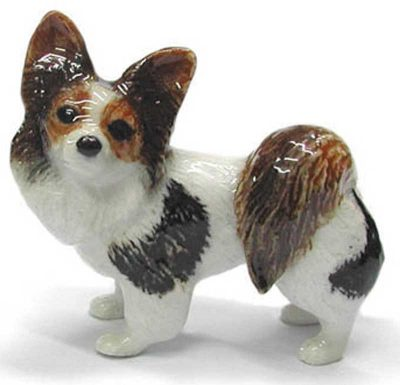 Papillon Hand Painted Porcelain Figurine 1