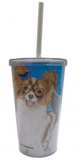 Papillon Tumbler With Straw