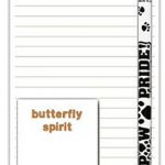 Papillon Dog Notepads To Do List Pad Pencil Gift Set 1