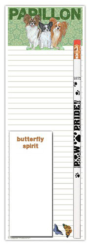 Papillon Dog Notepads To Do List Pad Pencil Gift Set