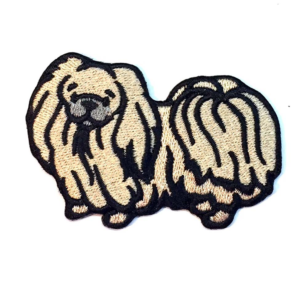 Pekingese Iron on Embroidered Patch