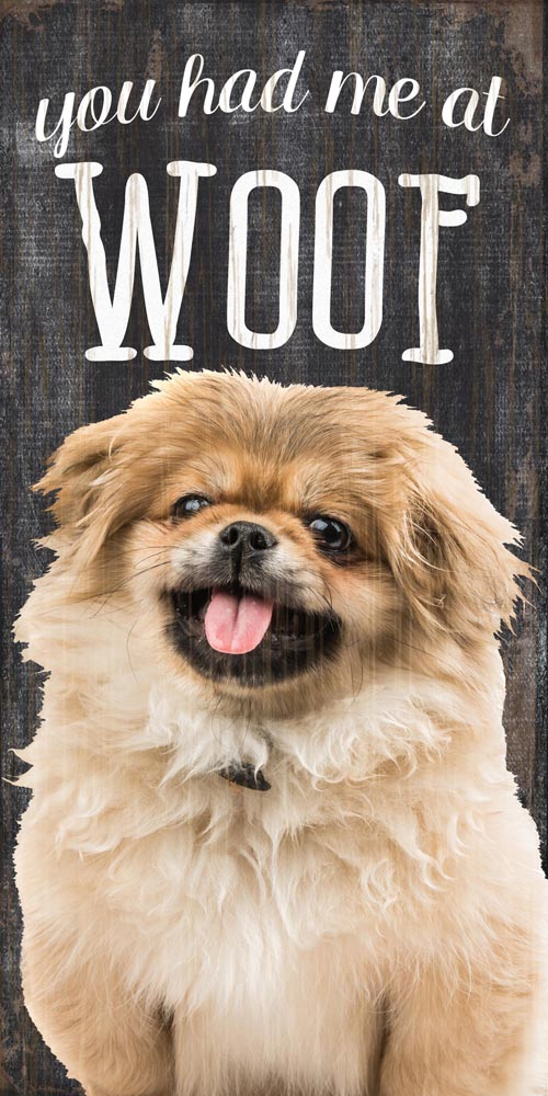 Pekingese Sign - You Had me at WOOF 5x10