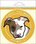 Pitbull Car Magnet 4x4""
