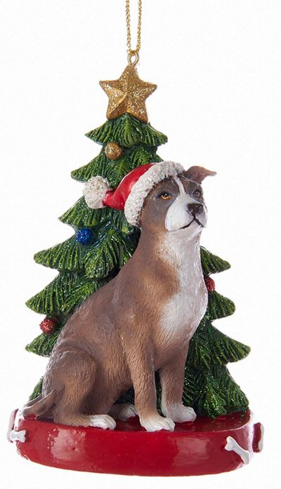 Pitbull Christmas Ornament.Pitbull Christmas Tree Ornament