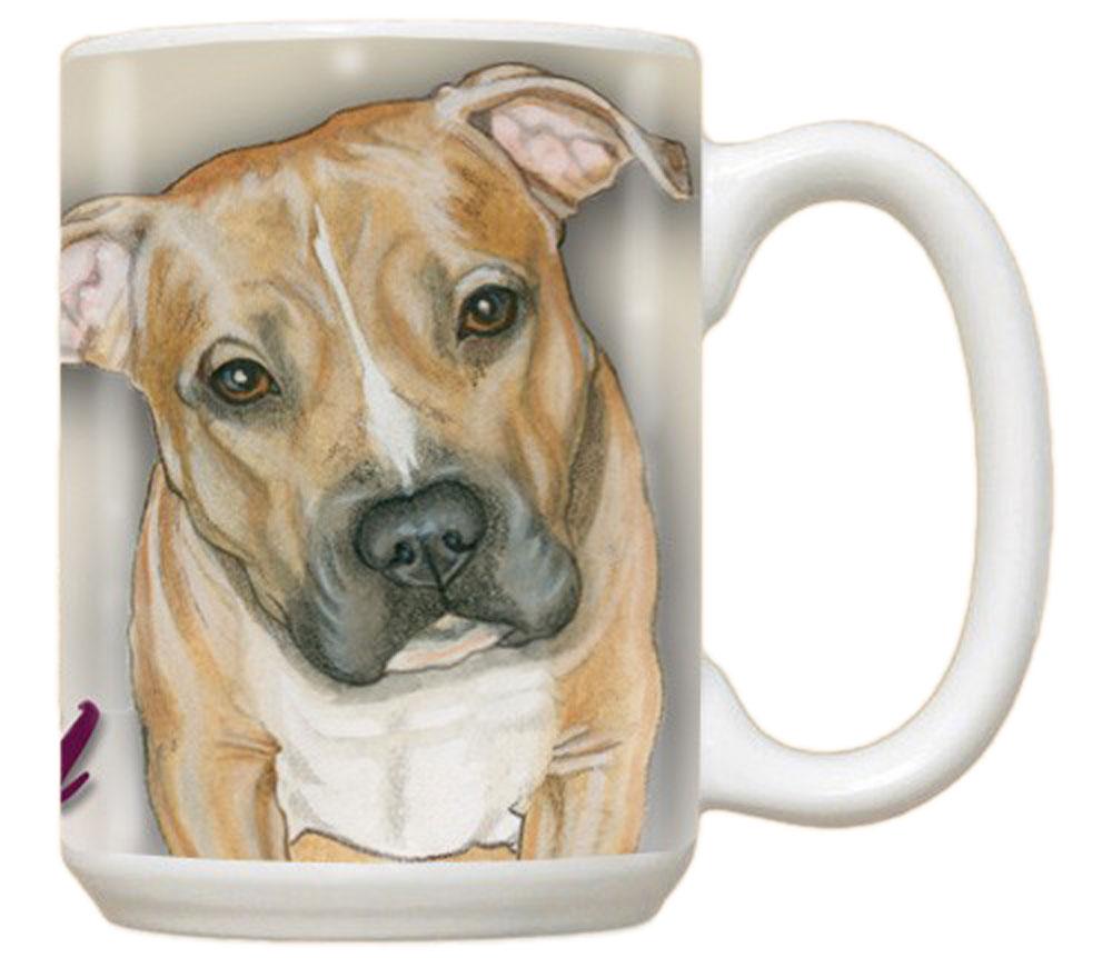 Pitbull Coffee Mug 15 Ounces Fawn