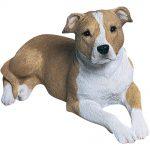 Pitbull Sandicast Figurine Original Size 5.75 Inch Brown Uncropped
