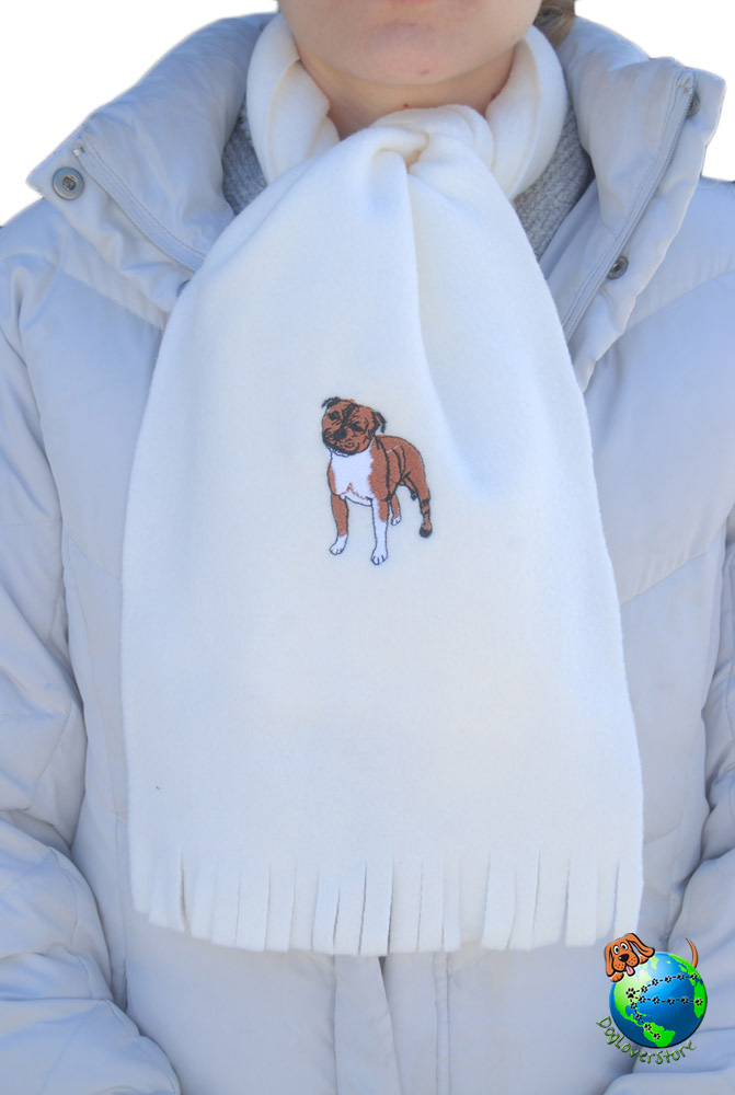 Pitbull Scarf Cream Fleece