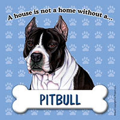 Pitbull Black Dog Magnet