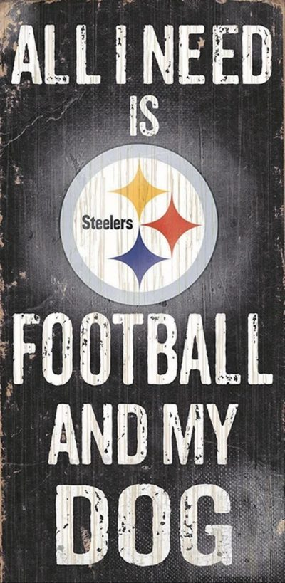 All I Need is Pittsburg Steelers Football and my Dog