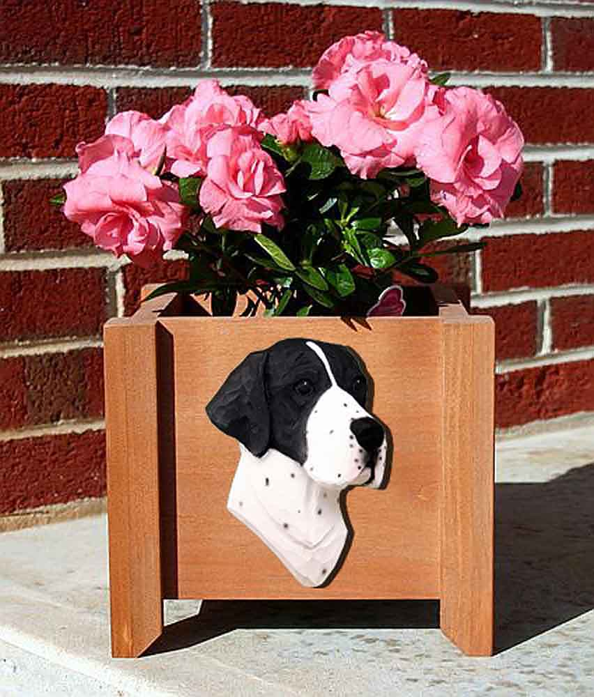 Pointer Planter Flower Pot Black