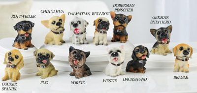 Poly-Resin Dog Figurines