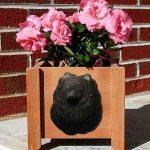 Pomeranian Planter Flower Pot Black 1