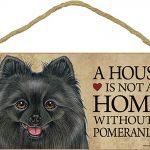 Pomeranian Black Wood Dog Sign Wall Plaque Photo Display 5 x 10 + Bonus Coaster 1