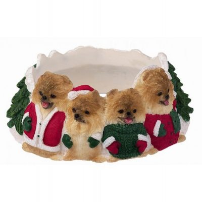 Pomeranian Holiday Candle Topper Ring 1
