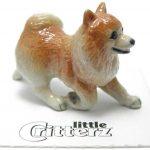 Pomeranian Hand Painted Porcelain Miniature Figurine 1