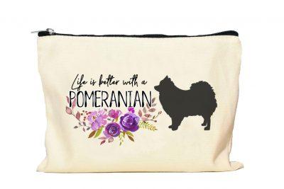 Pomeranian Makeup Bag