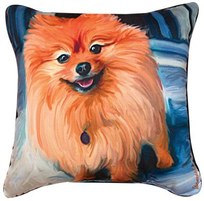 Pomeranian Artistic Throw Pillow 18X18""