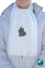 Pomeranian Scarf Cream Fleece Black