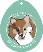 """Pomeranian Sticker 4x4"""""""