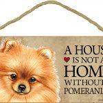 Pomeranian Wood Dog Sign Wall Plaque 5 x 10 + Bonus Coaster 1
