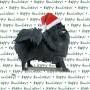 Pomeranian Dog Coasters Christmas Themed Black 1