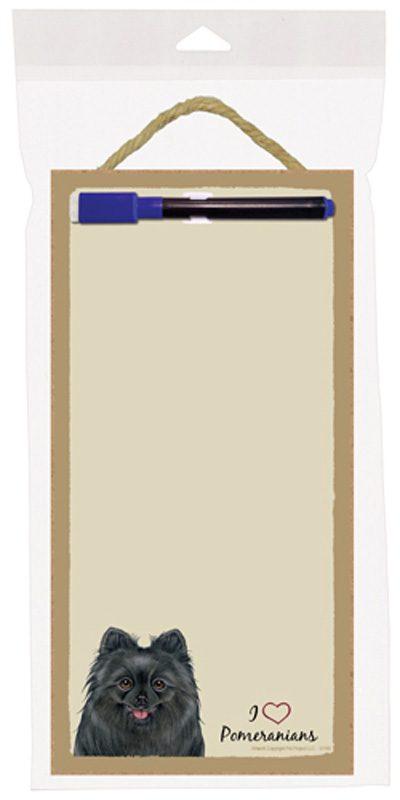 pomeranian_black_dog_wooden_memo_boards