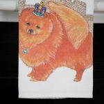 Pomeranian Kitchen Hand Towel Red 2