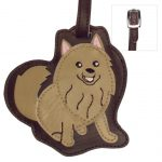 Pomeranian Dog Luggage Tag Briefcase Gym Backpack Travel ID