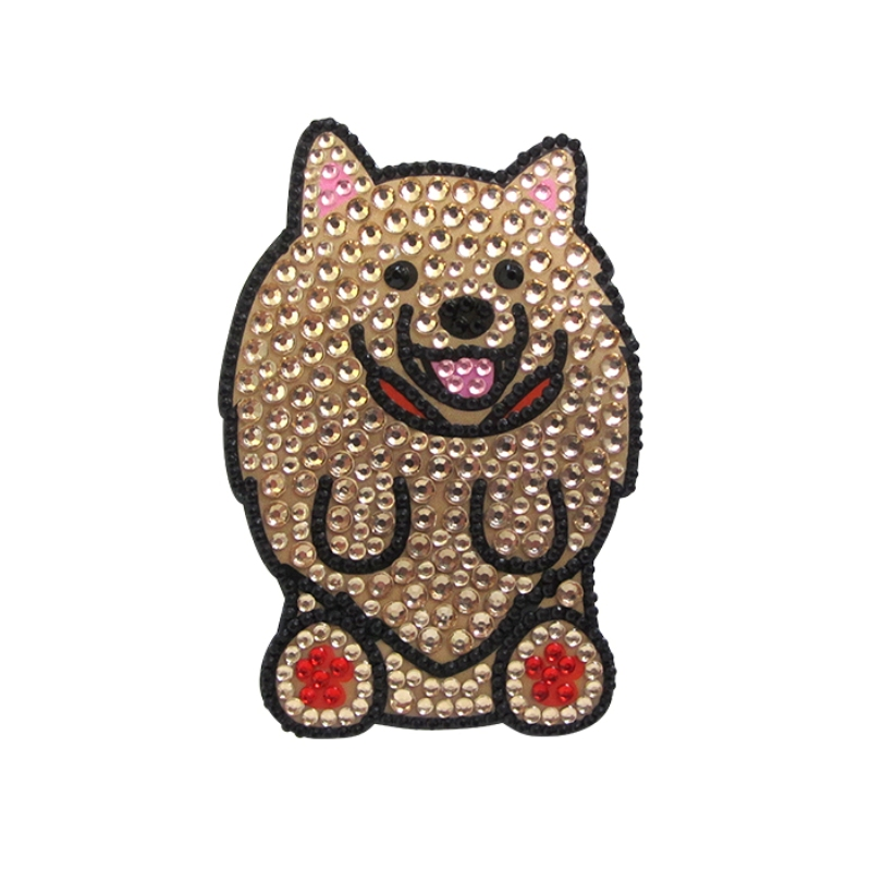 pomeranian_rhinestone_dog_sticker