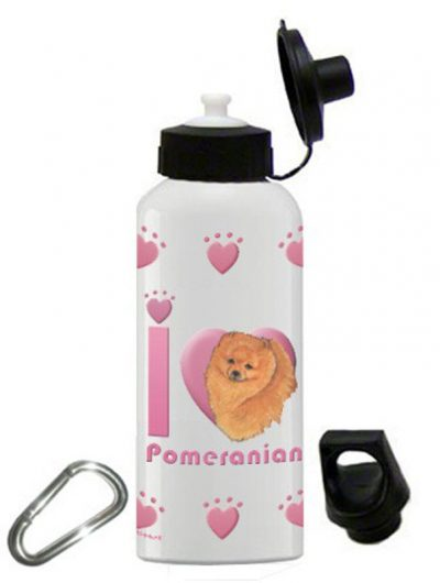 Pomeranian Water Bottle Stainless Steel 20 oz 1