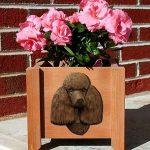 Poodle Planter Flower Pot Brown 1