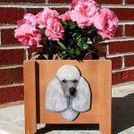 Poodle Planter Flower Pot Grey 1