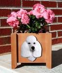 Poodle Planter Flower Pot White
