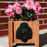 Poodle Planter Flower Pot Black 1