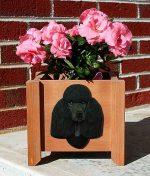 Poodle Planter Flower Pot Black