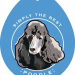 Poodle Sticker 4×4″ Black 1