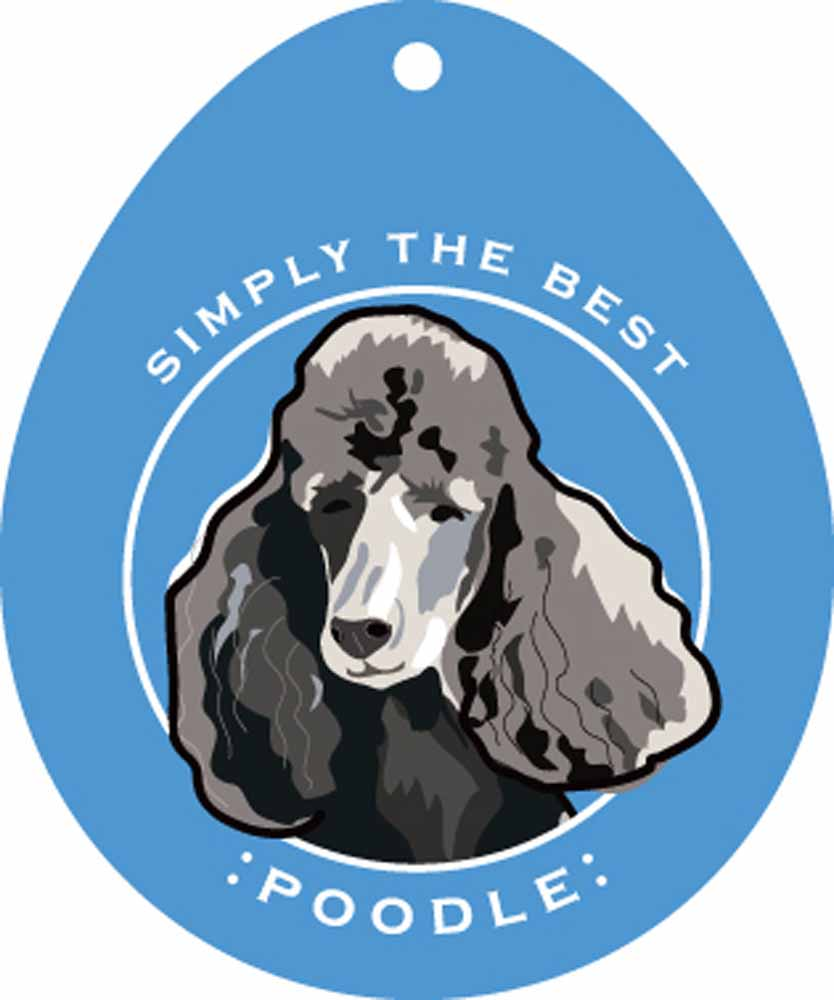 "Poodle Sticker 4x4"" Black"