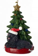 Poodle Christmas Tree Ornament Black