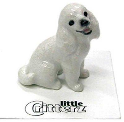Poodle Hand Painted Porcelain Miniature Figurine