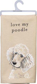 Poodle Kitchen Dish Towel By Kathy White