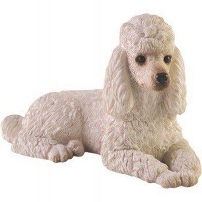 Poodle Figurine Hand Painted White – Sandicast 1